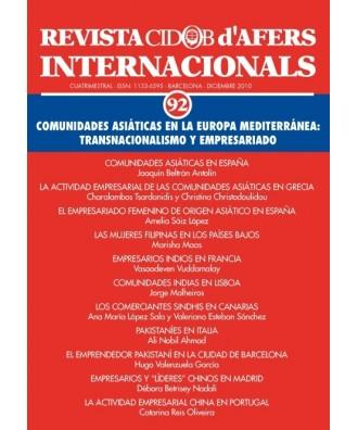 Revista Cidob d'Afers Internacionals Nº 92