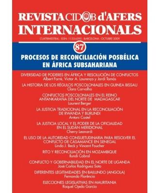 Revista Cidob d'Afers Internacionals Nº 87