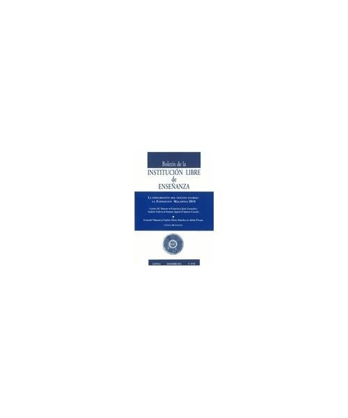 Boletín de la Institución Libre de Enseñanza Nº 87-88