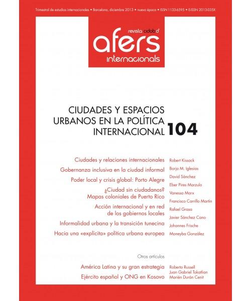 Revista Cidob d'Afers Internacionals Nº 104