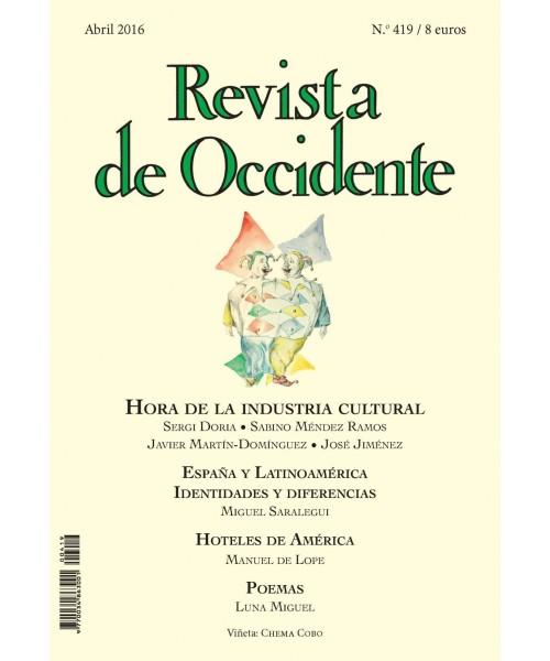 Revista de Occidente Nº 419